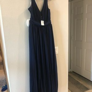 Navy blue chiffon Maxi dress Size M